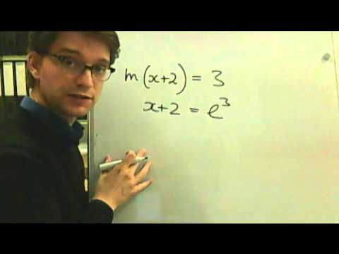 Logarithms 3 Solving equations