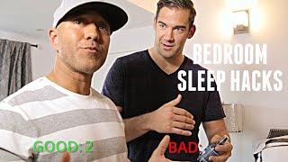 Shawn Stevenson Checks Lewis Howes Bedroom for Sleep Hacks