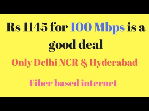 Ultra high speed broadband 100 Mbps speed test: Excitel