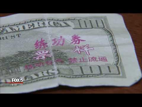 Counterfeit cash warning
