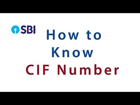 how to know cif number of sbi 2018?