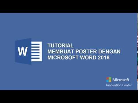 Tutorial Membuat Poster dengan Microsoft Word