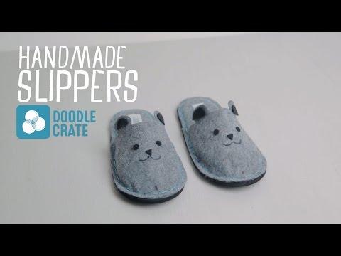 Make Your Own Felt Slippers