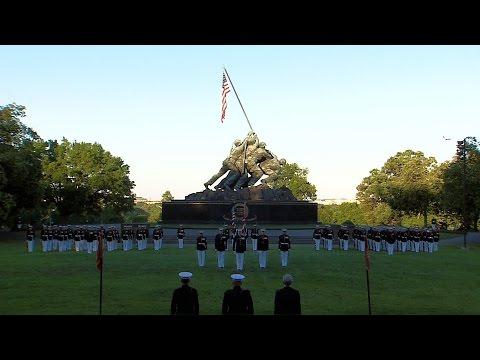 Sunset Parade At USMC War Memorial