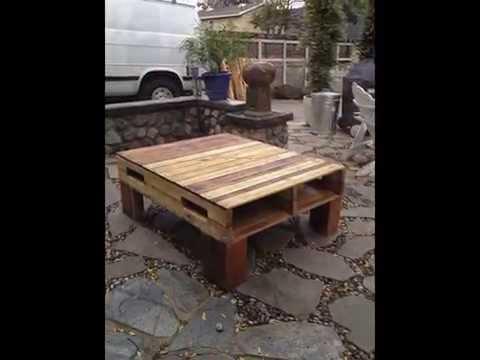 Backyard build Pallet table