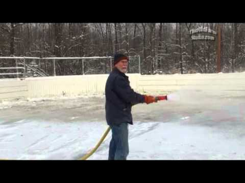 Moose Lake Area Hockey Association How to Video for Flooding the Outside Rinks