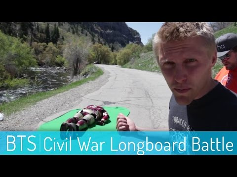 Captain America Civil War Longboarding Behind the Scenes