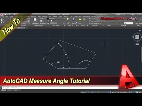 AutoCAD How To Measure Angle