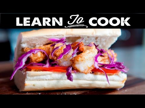 Learn To Cook: Healthy Shrimp Po' Boy Sandwich