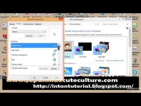 How To Change Mouse Pointer in Windows 8 Just 1 Minute