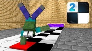 Monster School : NOOB VS PRO PIANO TILES CHALLENGE - Minecraft Animation