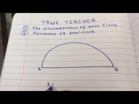 Circumference of semi circle