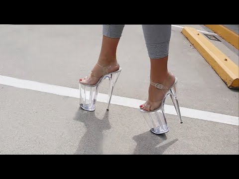Xxx Mp4 Review Walking In Pleaser Beyond 008 Clear 10 Inch High Heel Platform Shoes 3gp Sex