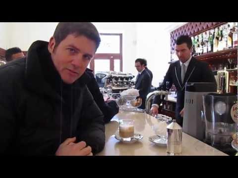 Ordering Cappuccino con Panna at a Coffee Bar Called