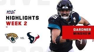 Gardner Minshew Highlights vs. Texans   NFL 2019