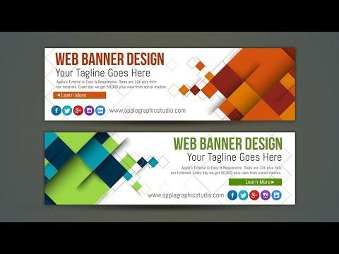 Professional Web Banner AD Design - Photoshop Tutorial
