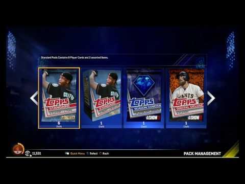 MLB The Show 17 Diamond Dynasty 20+ packs! Gold+Legend Pull!