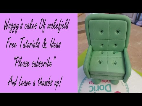 how to make a Gum Paste Arm chair tutorial