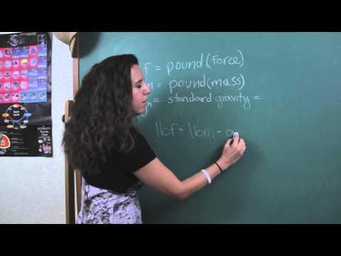 Pound Force to Pound Mass Conversion : Physics & Math