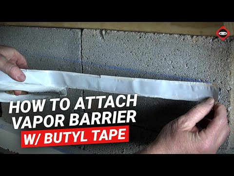 Butyl Tape Install w/ Crawl Space Vapor Barrier & Christmas Fasteners