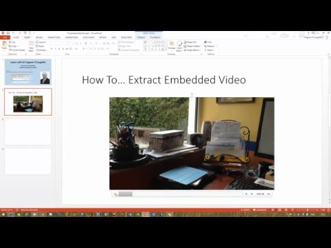 How To... Extract an Embedded Video from a PowerPoint Presentation