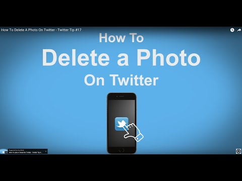 How To Delete A Photo On Twitter  - Twitter Tip #17