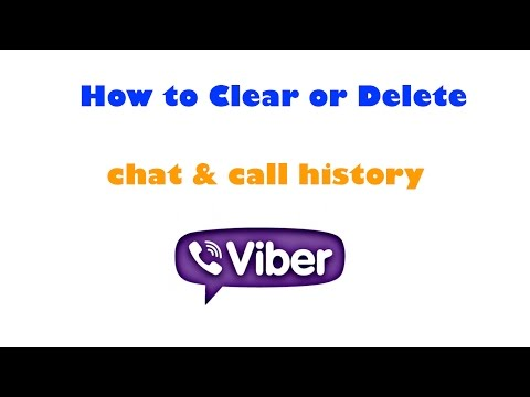 How to clear or delete chat & call history on Viber