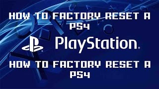 How To Factory Reset Wipe A Ps4 Pro Reinstall System Software