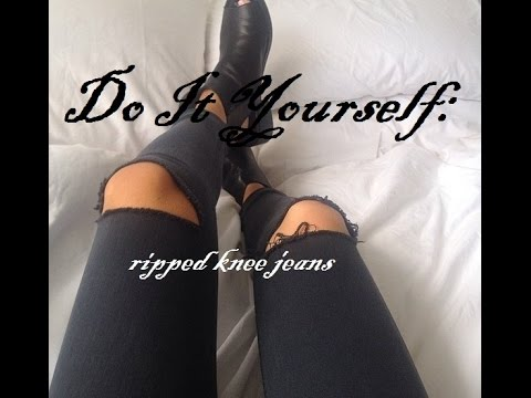 DIY: Ripped Knee Jeans *TREND*