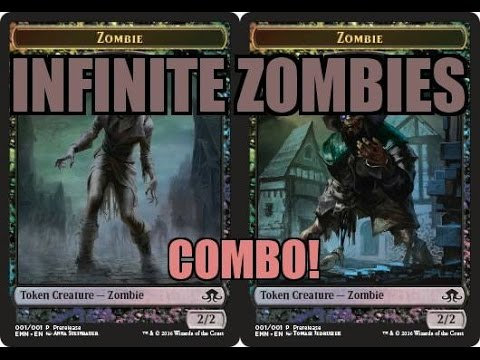 Infinite Damage and Token Combo. Zombies 4 days!!!