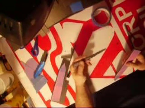 How to Cut Perfect foam parts using poster board templates