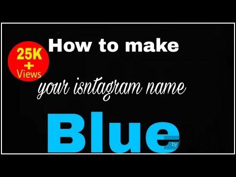 How To Make Your Instagram Name Blue ( Instagram Tricks )