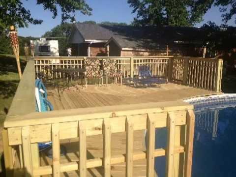 Quarter Round Pool Deck. We Build Outdoor Pianos!