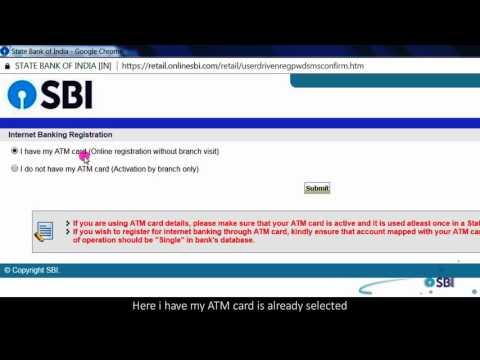 SBI RINB: Online Registration for Internet Banking (Video Created in June 2017)