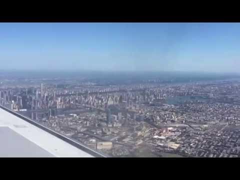 Landing at Laguardia Airport NYC