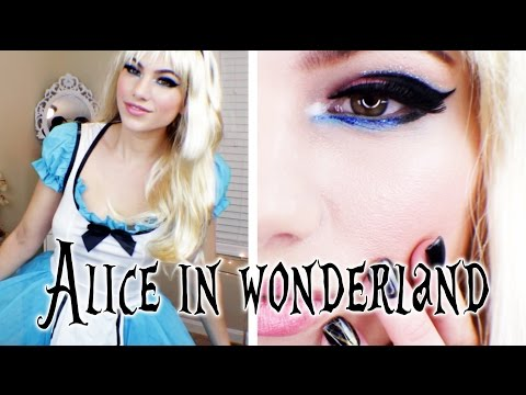 Alice in Wonderland Makeup, Hair, & Costume Halloween Look 2014!