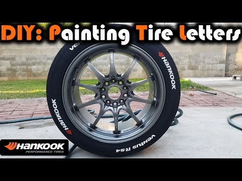 DIY: How to Paint Tire Lettering