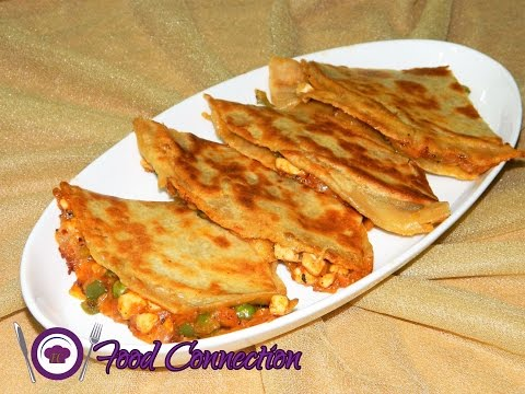 Pizza Paratha | Whole Wheat Cheesy Pizza Paratha - By Food Connection
