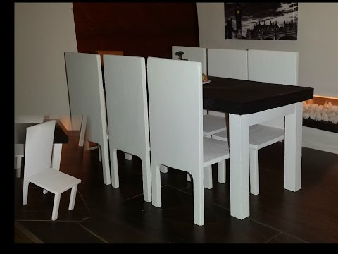 How to make a Doll Dining Table Set
