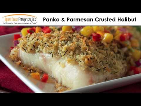 Panko & Parmesan Crusted Halibut