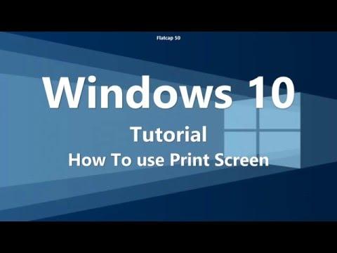 screenshots Print Screen  Windows 10 / How To Tutorial
