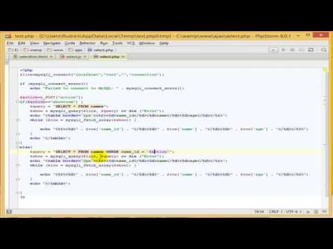 JQuery Ajax PHP Tutorial : how to fetch data from MySQL using jquery Ajax in PHP