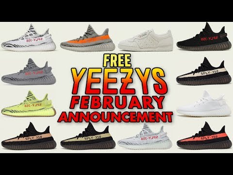 Free Yeezy Giveaway - February Announcement
