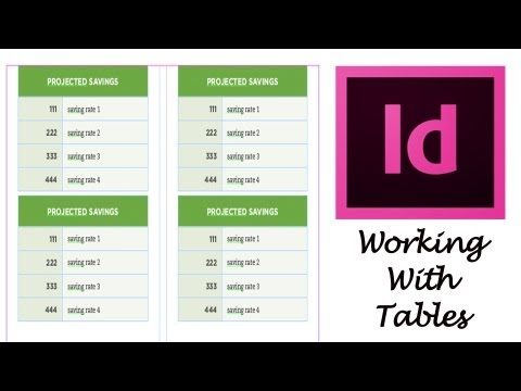Adobe Indesign CS6 Tutorial - Working With Tables