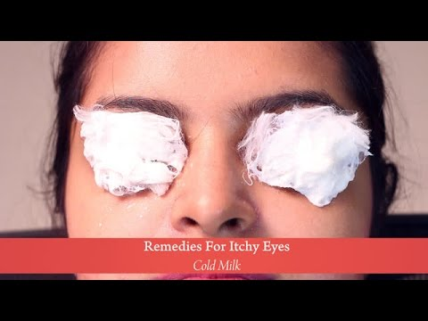 Home Remedies : Cold Milk for Itchy Eyes
