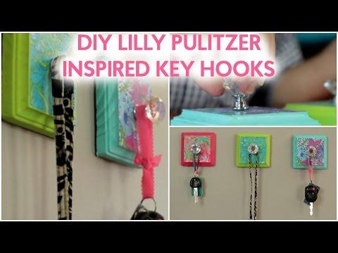 DIY LILLY PULITZER INSPIRED KEY HOOKS!