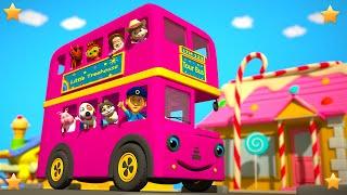 Pink Wheels On The Bus | Kindergarten Nursery Rhymes & Songs for Kids | Little Treehouse S03E103