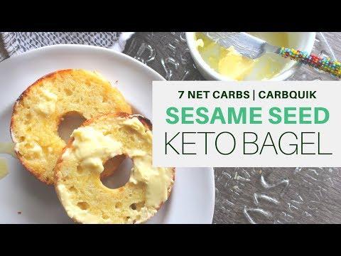 CARBQUIK BAGELS   Sesame Seed   7 NET CARBS PER BAGEL   KETO   #LCHF   #weightloss   #carbquik #GFCF