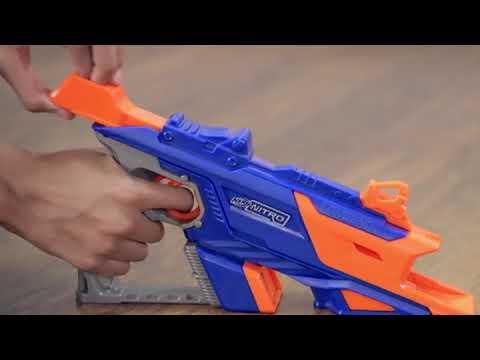 NERF Nitro Longshot Smash Εκτοξευτής με Αυτοκινητάκια στο www.toys-shop.gr