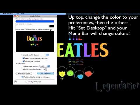 Mac OS X Tutorial: How to Change the Color of the Menu Bar